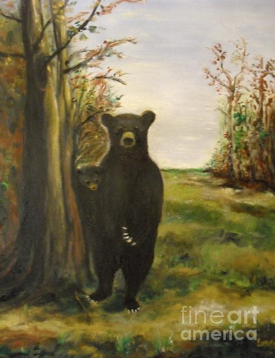 Bear Necessity Print by Laurie D Lundquist