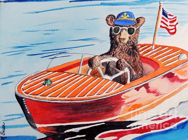 Bearboat Print by LeAnne Sowa