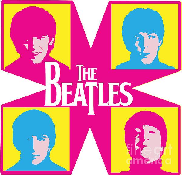 Beatles Vinil Cover Colors Project No.01 Print by Caio Caldas