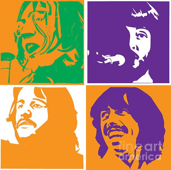 Beatles Vinil Cover Colors Project No.02 Print by Caio Caldas