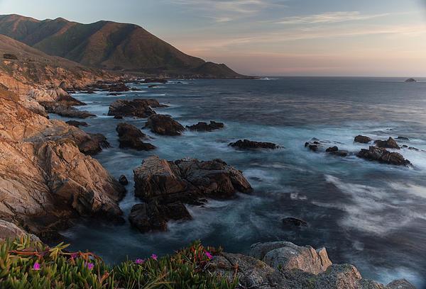 Beautiful California Coast In Spring Print by Mike Reid
