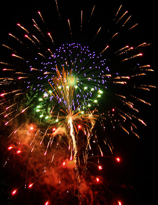 Beautiful Fireworks Works Print by Kim Pate