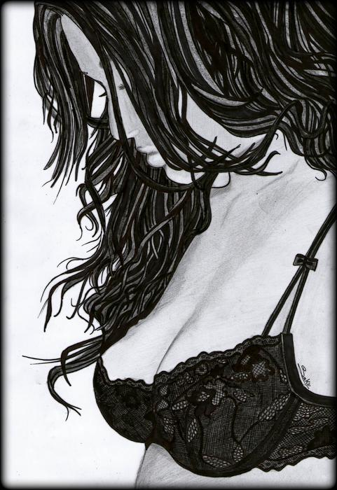 Beautiful Girl Print by Saki Art