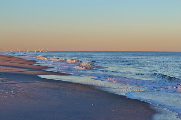 Beautiful Ocean In Nc Print by Cynthia Guinn