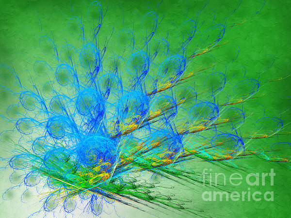Beautiful Peacock Abstract 1 Print by Andee Design