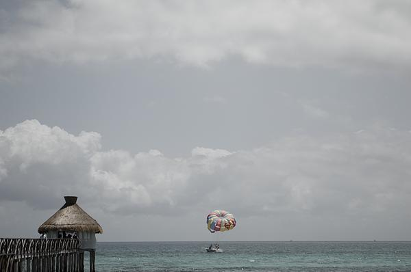 Beautiful Peak With Parasailing  Print by Shaun Maclellan