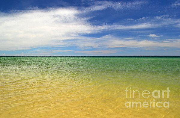 Beautiful St George Island Water Print by Holden Parker