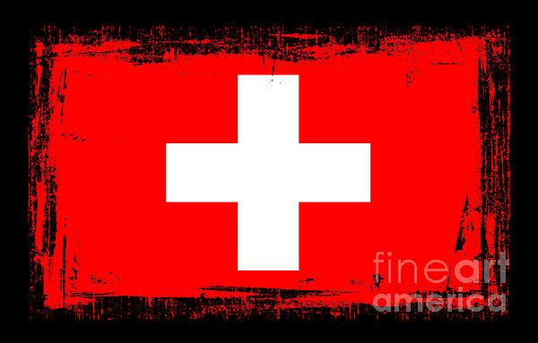 Beautiful Switzerland Flag Print by Pamela Johnson