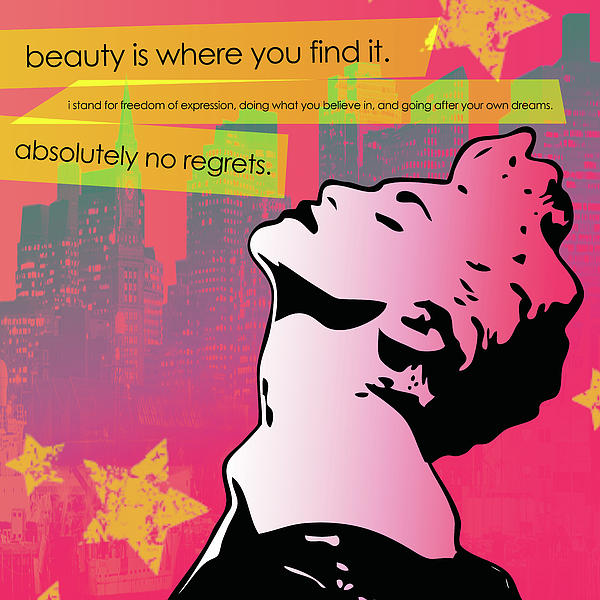 Beauty Is Where You Find It Print by dreXeL