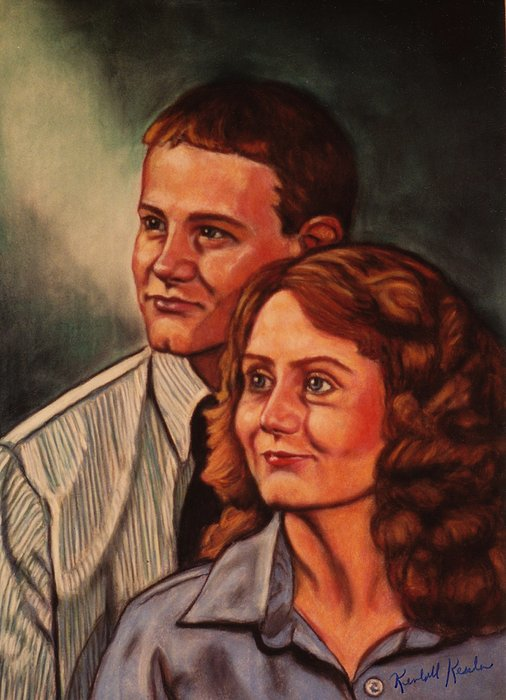 Becky And Ron Yearout Print by Kendall Kessler