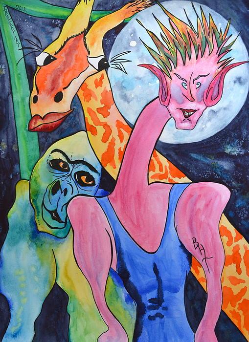 Becoming My Self Print by Beverley Harper Tinsley