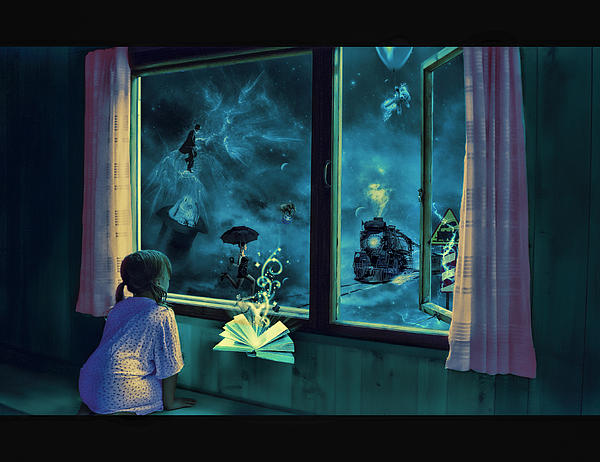 Bedtime Stories Print by Erik Brede