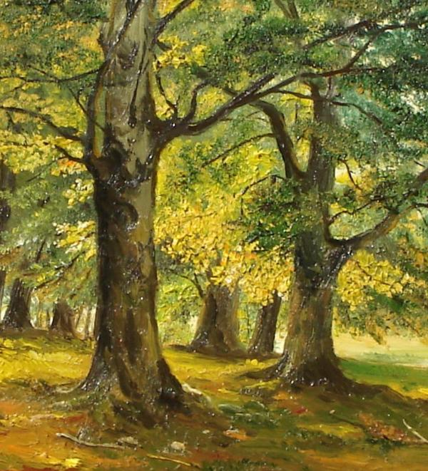 Beeches In The Park Print by Sorin Apostolescu