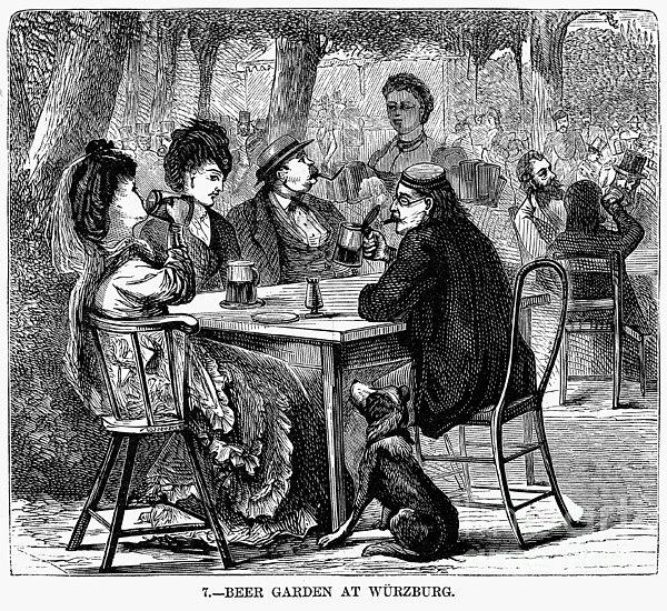 Beer Garden Print by Granger