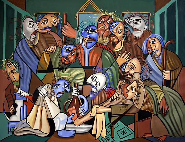 Before The Last Supper Print by Anthony Falbo