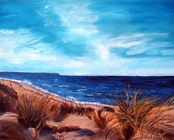 Before The Tumble At Chapin Beach Print by Viola Holmgren