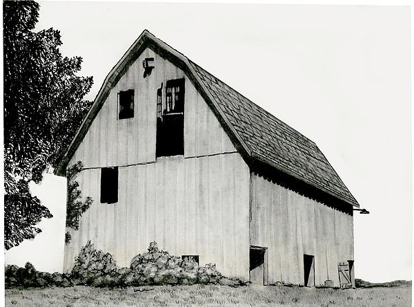 Behind The Barn Print by Todd Spaur