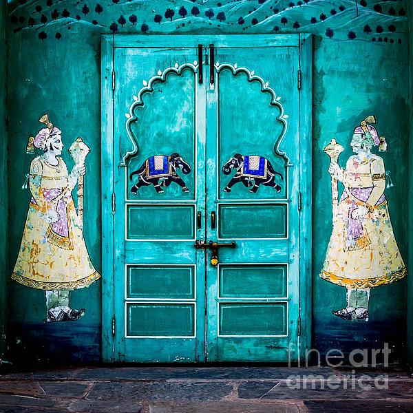 Behind The Green Door Print by Catherine Arnas