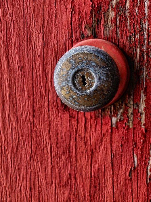 Behind The Red Door Print by Tom Druin