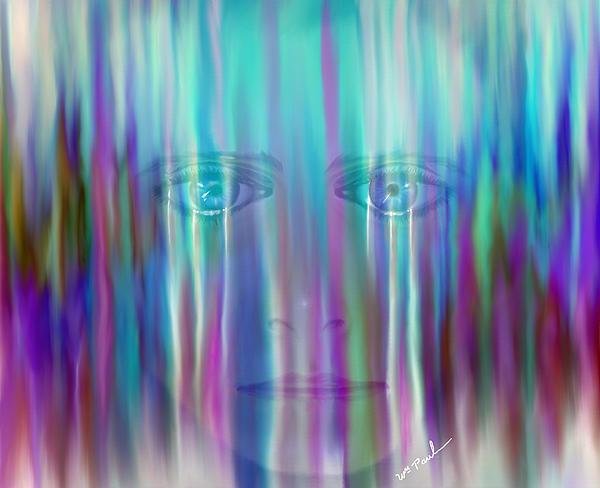 Behind The Tears Print by William  Paul Marlette