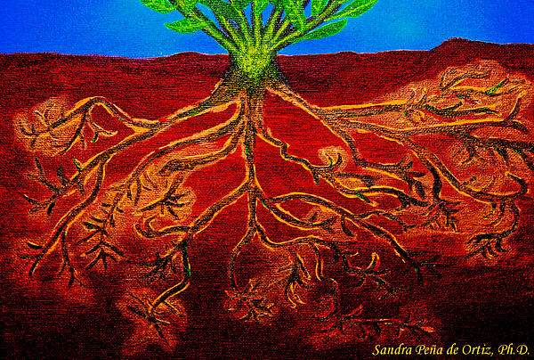 Being Rooted And Grounded In My Good Soil Print by Sandra Pena de Ortiz
