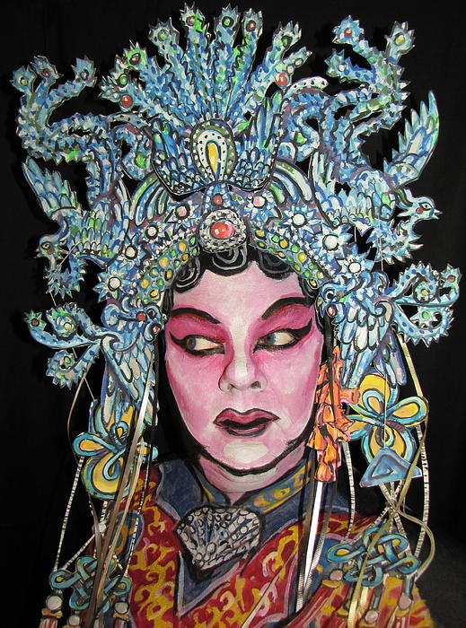 Bejing Opera Face Print by James Kuhn