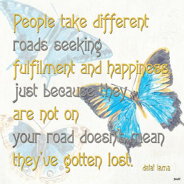 Bella Butterflies 2 Print by Debbie DeWitt