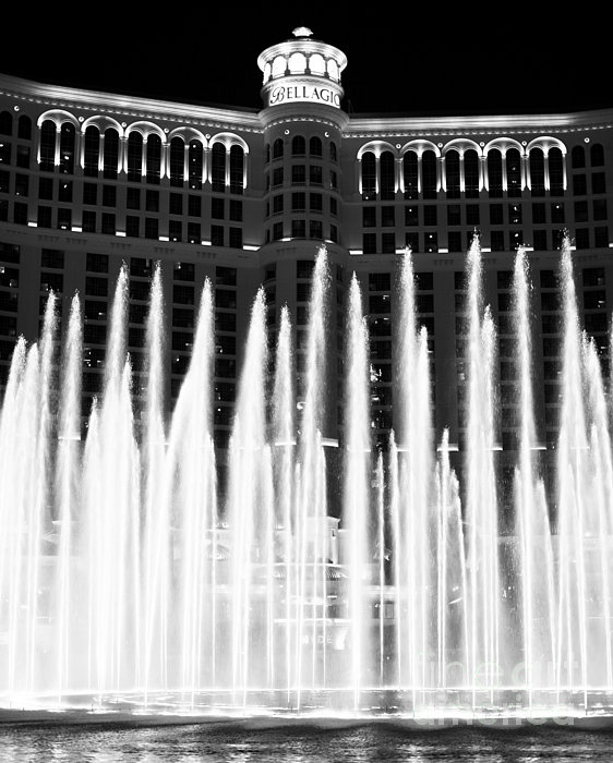 Bellagio Fountains IIi Print by John Rizzuto