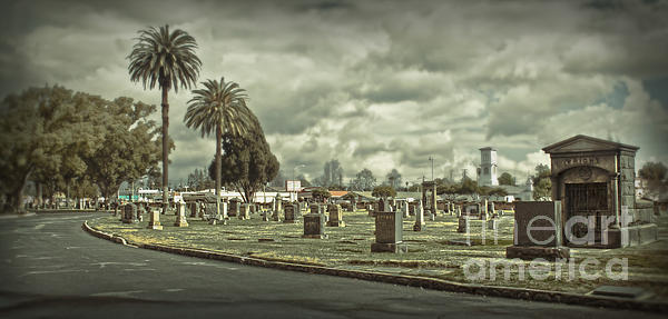 Bellevue Cemetery Crypt - 02 Print by Gregory Dyer