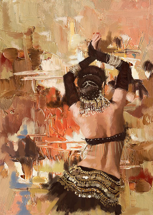 Belly Dancer Back Print by Corporate Art Task Force