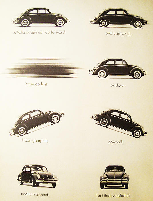 Benefits Of A Volkwagen Print by Nomad Art And  Design