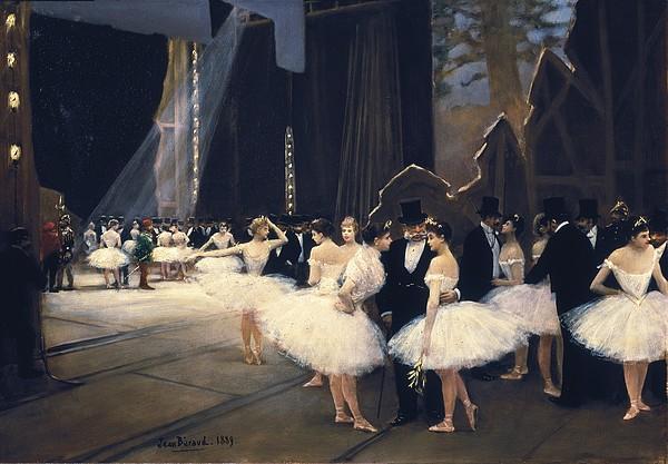 Beraud, Jean 1849-1935. Backstage Print by Everett