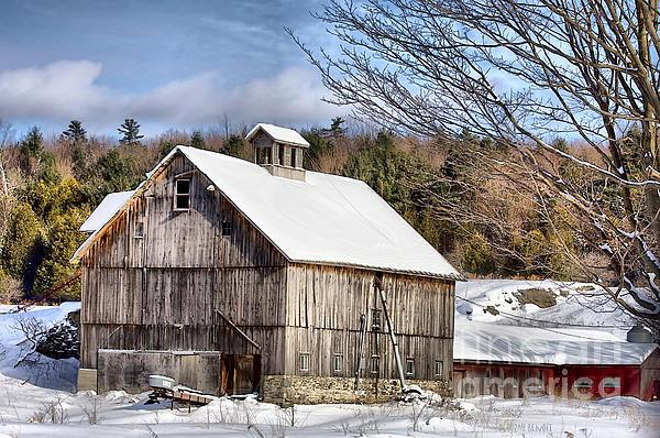 Deborah Benoit - Berkshire Barn In Winter