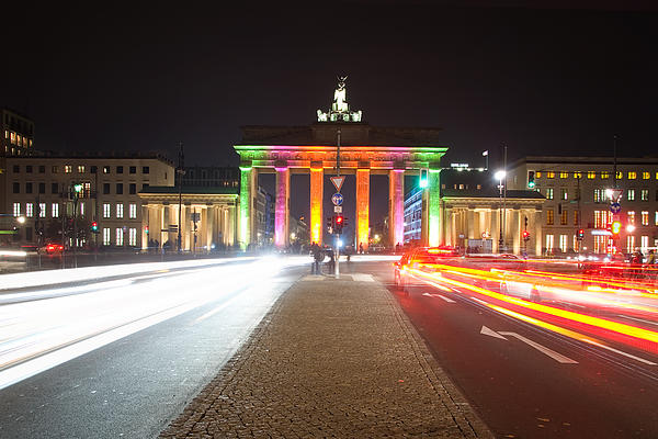 Berlin At Night Print by Steffen Gierok