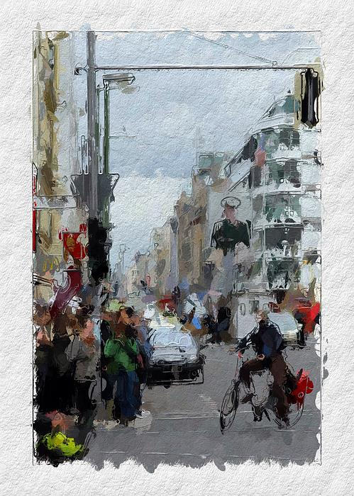Berlin Checkpoint Charlie Print by Stefan Kuhn
