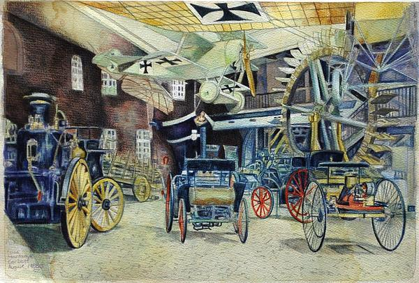 Berlin Transport And Technology Museum Print by Leisa Shannon Corbett