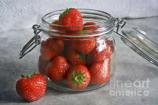 Berry Strawberries Print by Tracy  Hall