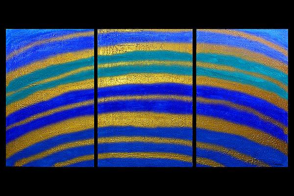 Best Art Choice Award Original Abstract Oil Painting Modern Blue Contemporary House Deco Gallery Print by Emma Lambert