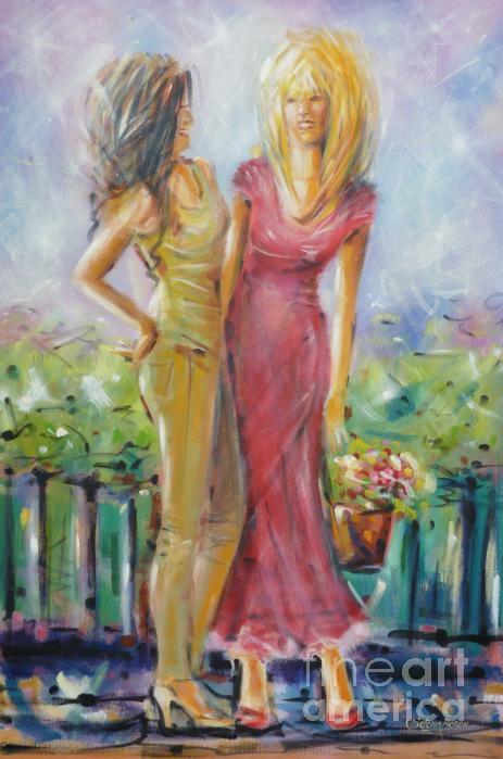 Best Friends 171008 Print by Selena Boron