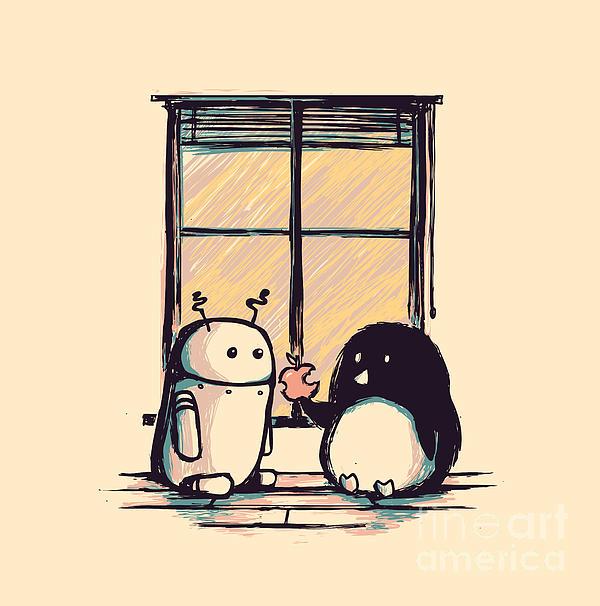 Best Friends Print by Budi Kwan