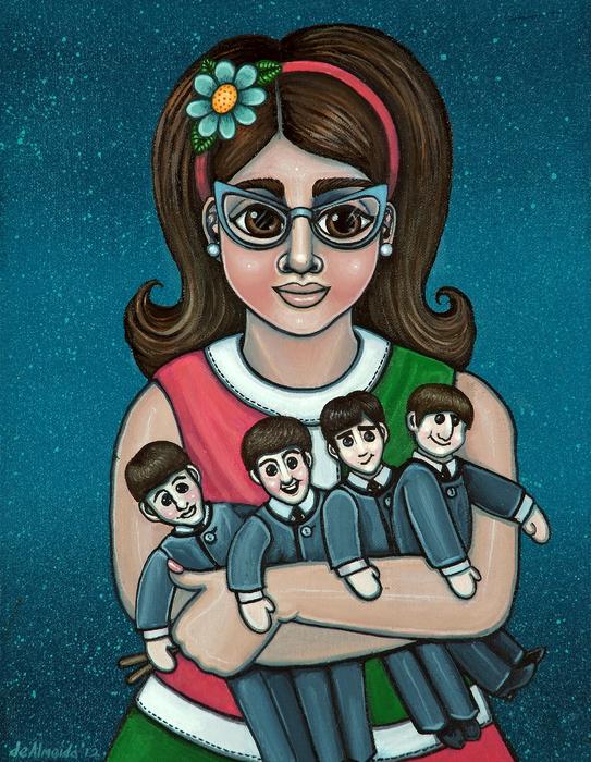 Betty Jeans Beatles Print by Victoria De Almeida