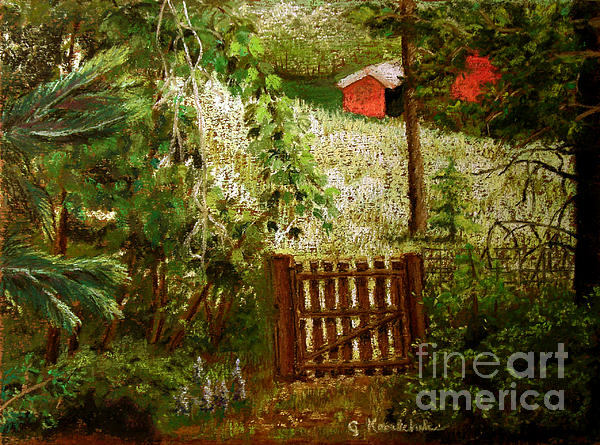 Beyond The Garden Gate Greeting Card For Sale By Carol