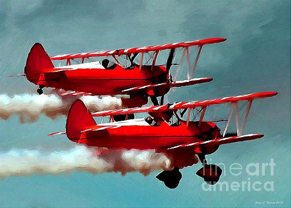 Bi-planes Print by Jerry L Barrett