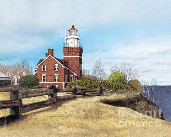 Big Bay Point Lighthouse Print by Darren Kopecky