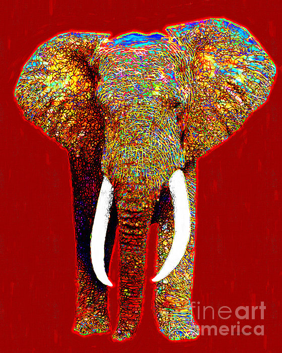 Big Elephant 20130201p0 Print by Wingsdomain Art and Photography