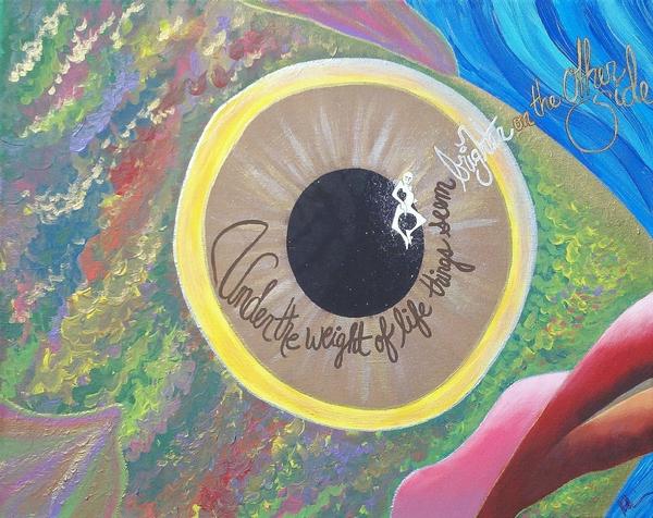 Big Eyed Fish Print by Nina Giordano