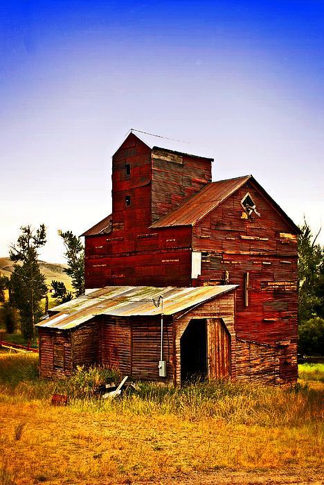 Big Red Grain Elevator Print by Marty Koch