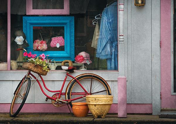 Bike - Lulu's Bike Print by Mike Savad