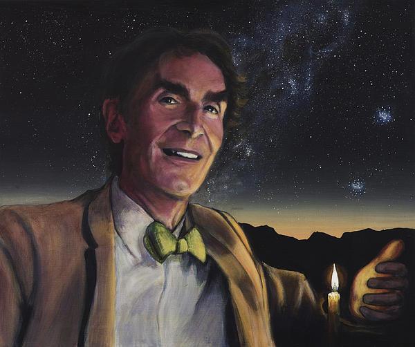 Bill Nye - A Candle In The Dark Print by Simon Kregar