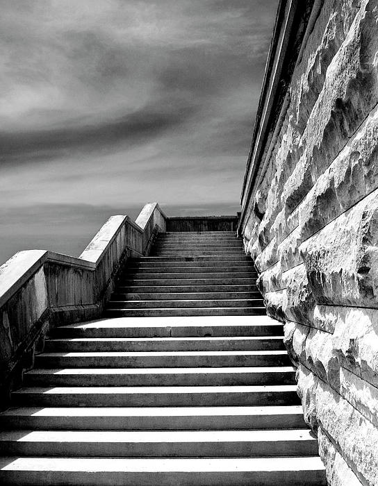 Biltmore Stairs Asheville Nc Print by William Dey